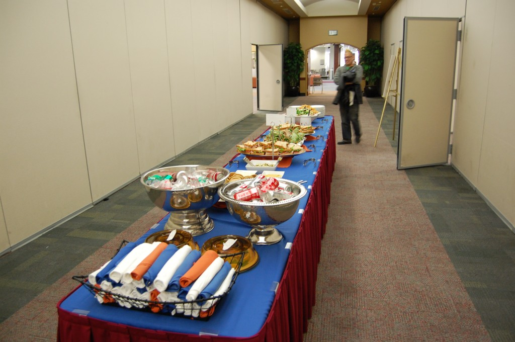 Lunch spread for THATCamp Boise State 2012